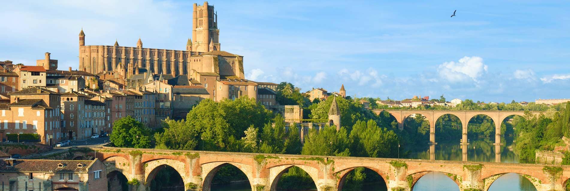 Albi, la cité épiscopale dans le Tarn en Occitanie