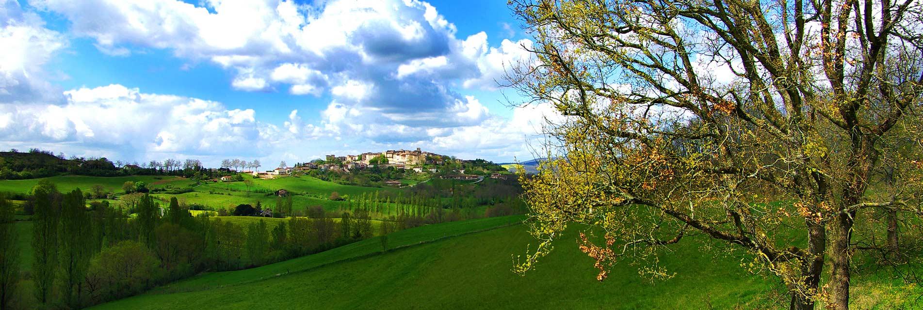 Ville Castelnau de Montmiral dans le Tarn