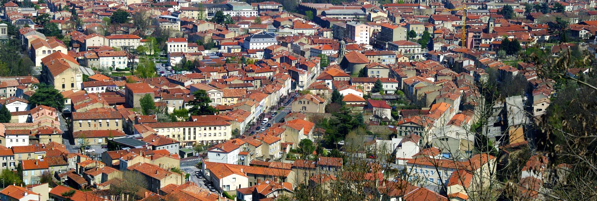 Ville de Mazamet dans le Tarn