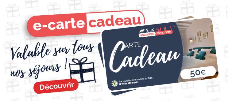 Reserver une e-carte cadeau Vacances Tarn