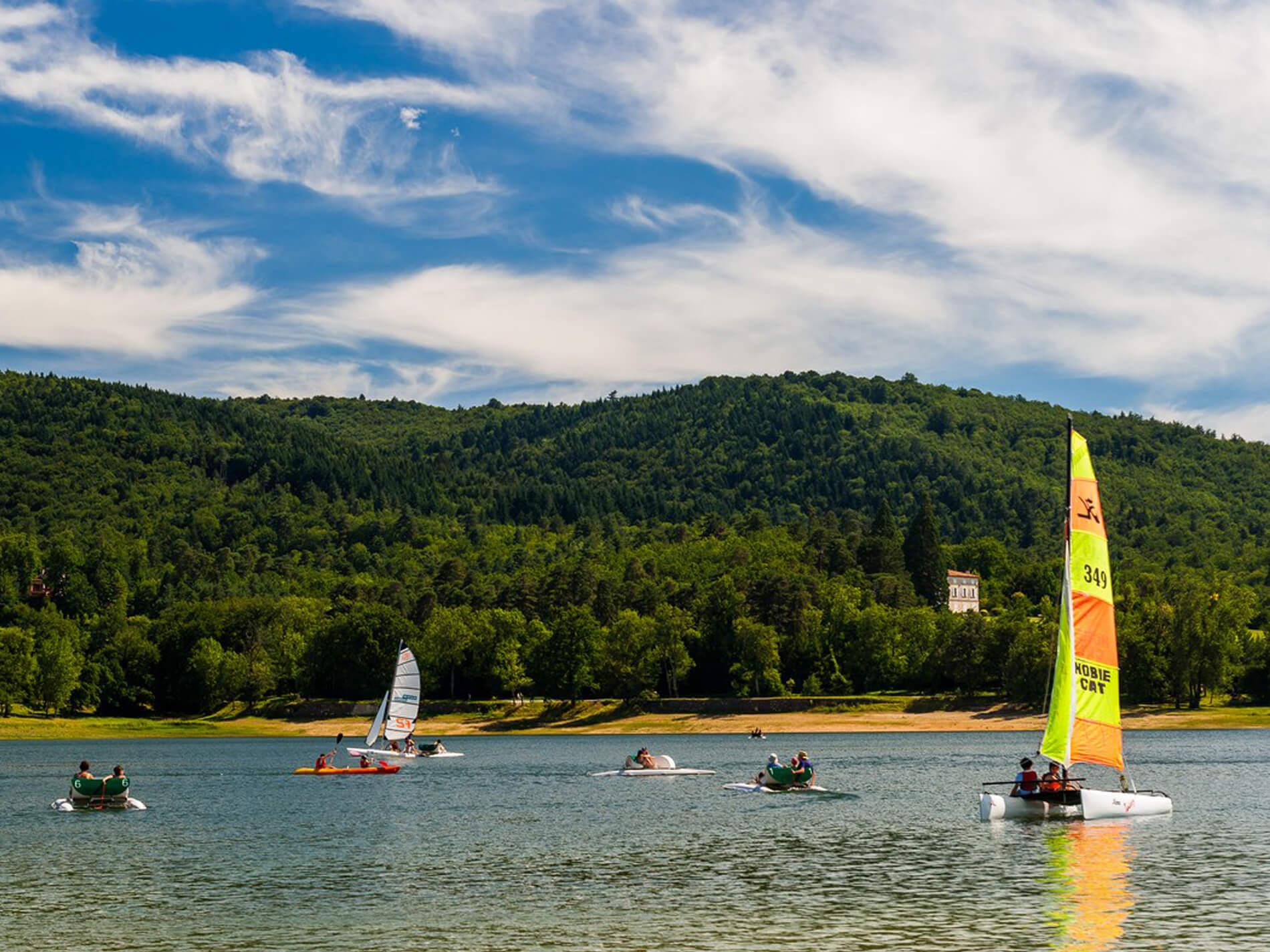 Fraicheur au Lac de Saint Férreol, Tarn
